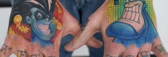 21 tatuajes de caricaturas llevados al límite