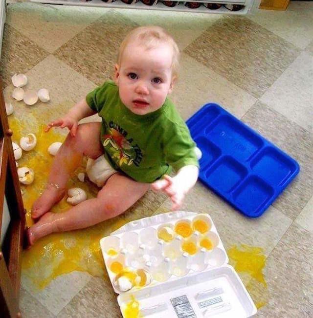 Huevos por todas partes