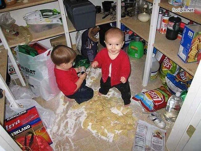 Regla básica: No niños en la alacena