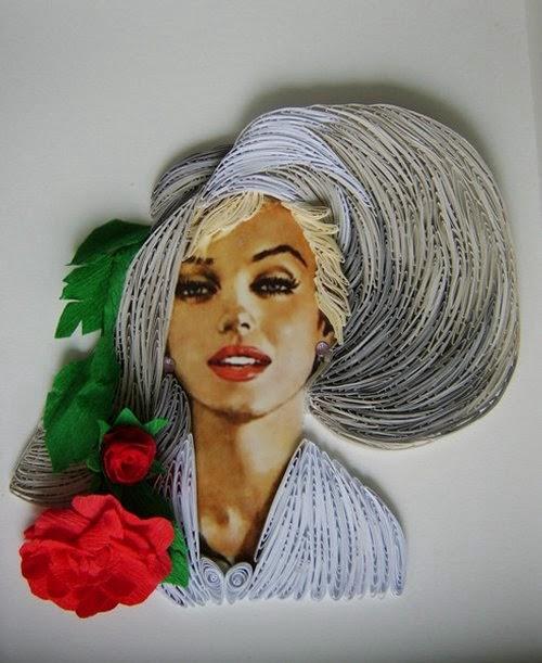 Marilyn Monroe con rollitos de papel