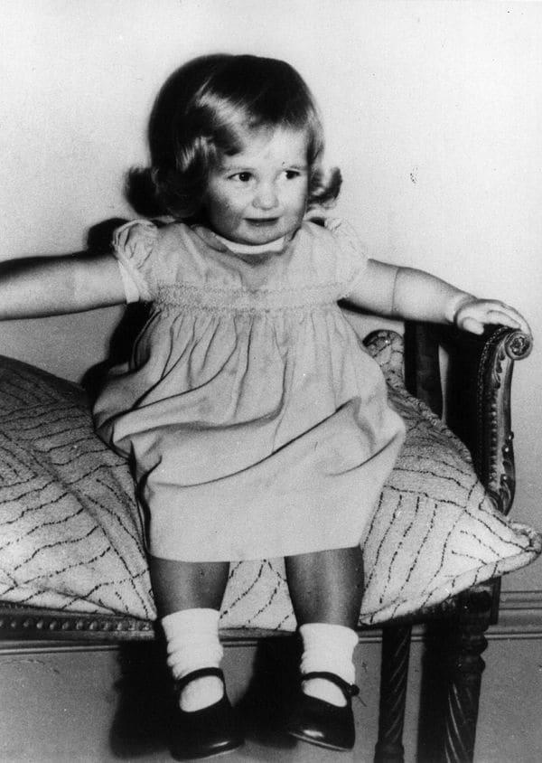 Cuando Diana era bebé