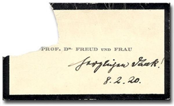 Tarjeta de Sigmund Freud