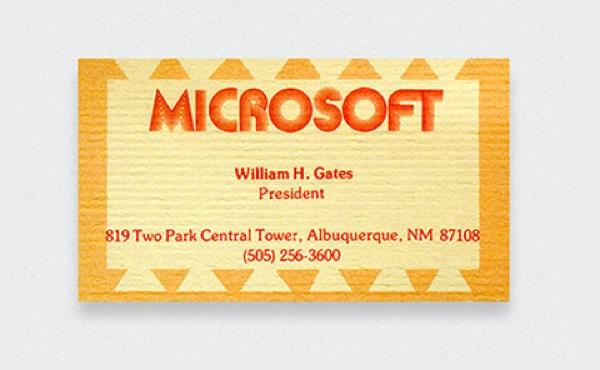 Tarjeta de Bill Gates