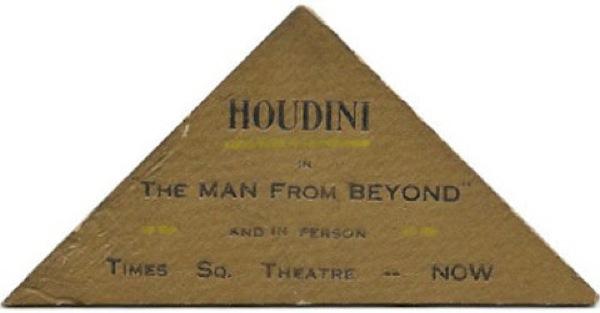 Tarjeta del mago Houdini