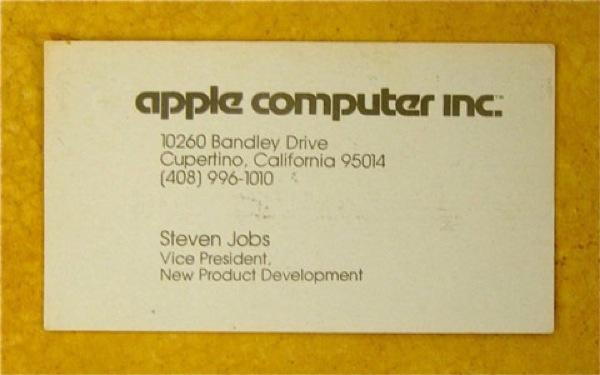 La simple tarjeta de Steve Jobs