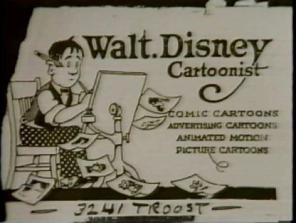 Tarjeta de Walt Disney