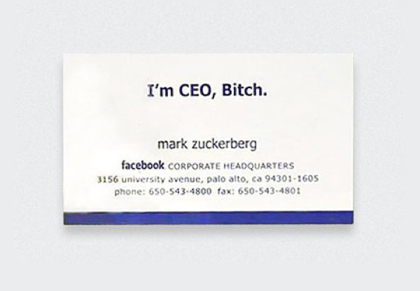 Tarjeta de Mark Zuckerberg