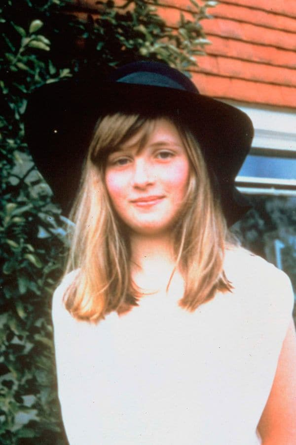 La Princesa Diana de adolescente