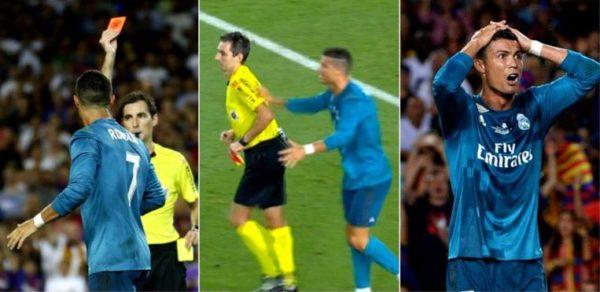 Cristiano empuja arbitro Copa de España